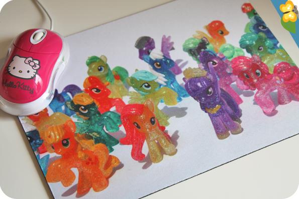 Photographie My Little Pony imprimée sur un tapis de souris - Prentu.fr