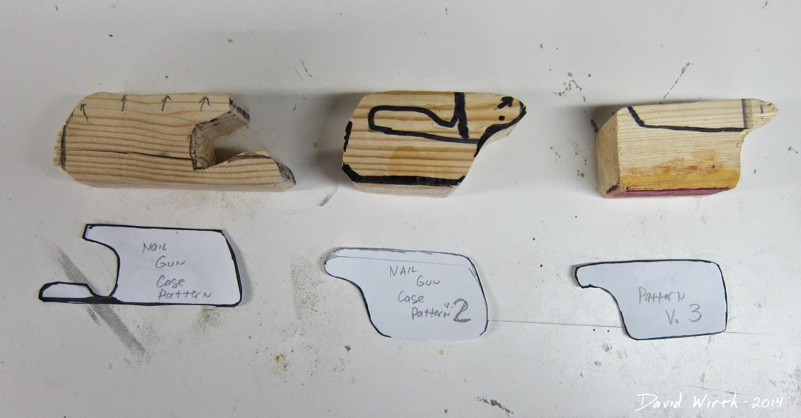wood nail gun mount, version