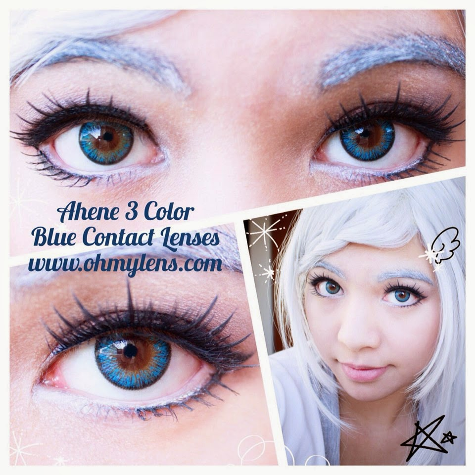 Review of Ahene 3 Color Blue Contact Lenses at ohmylens.com