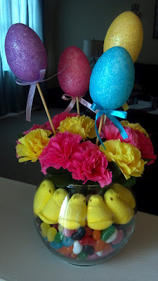 Easter Centerpiece - www.thelifeofawannabesupermom.blogspot.com