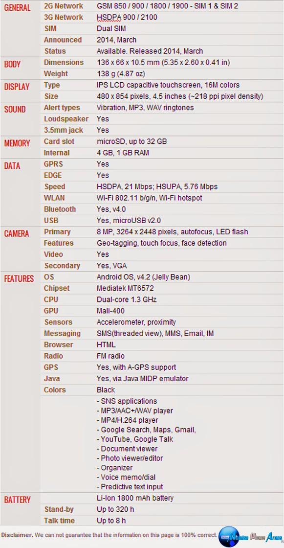 Gigabyte GSmart Rey R3 - Full phone specifications Pic