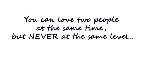 can you love 2 people at the same time