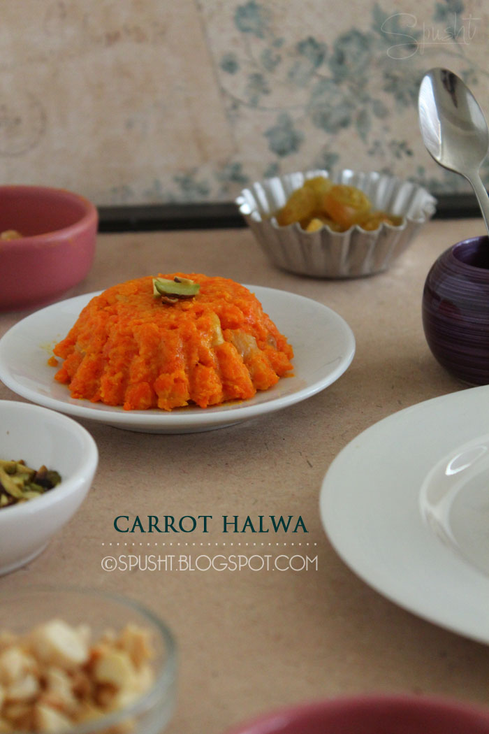 Spusht | Carrot Halva - Dense Carrot Pudding