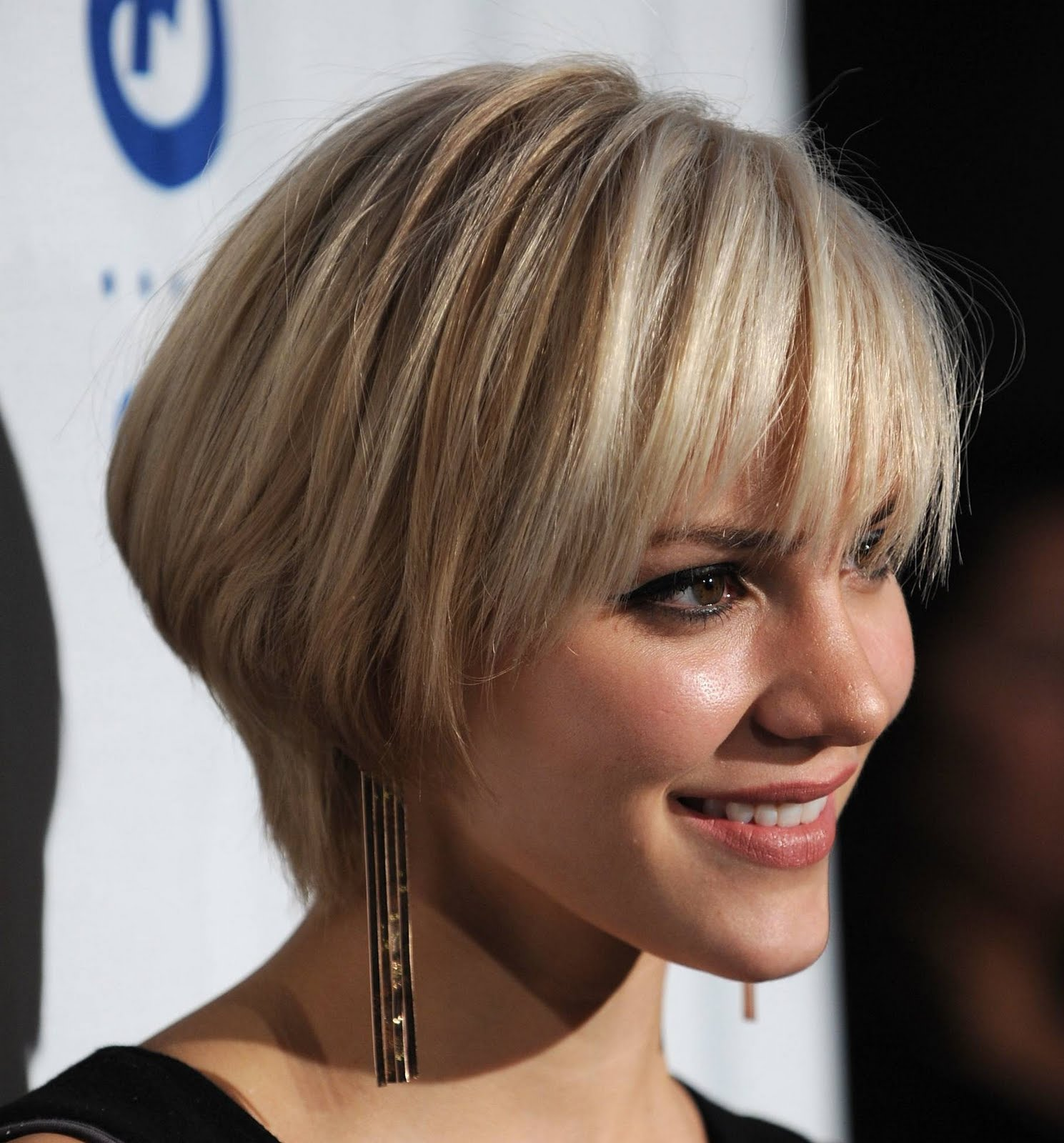 short blonde straight bob hairstyles for prom 2012