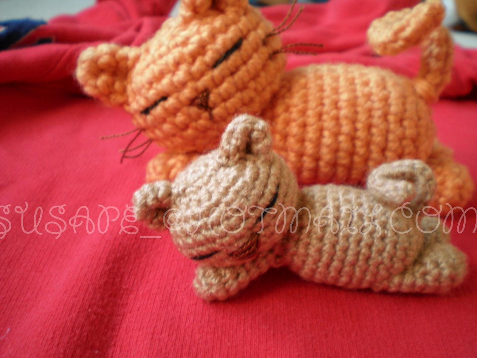 Susana mis amigurumis: Mis gatitos de crochet