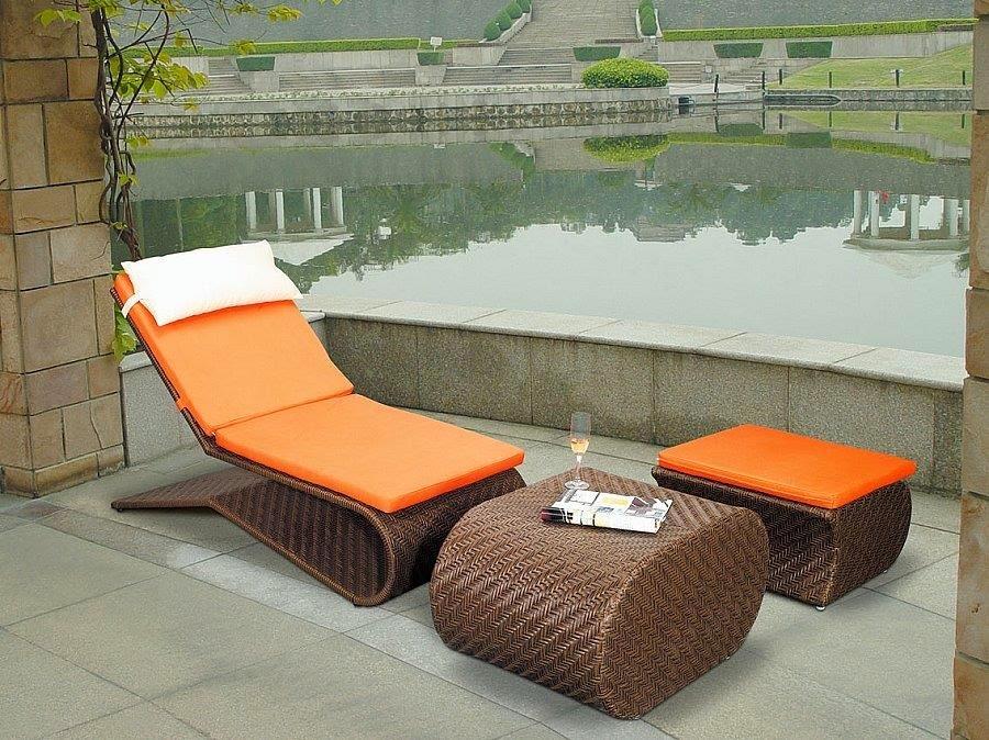 Muebles patio y jardines en color naranja patios y jardines for Muebles para patio y jardin