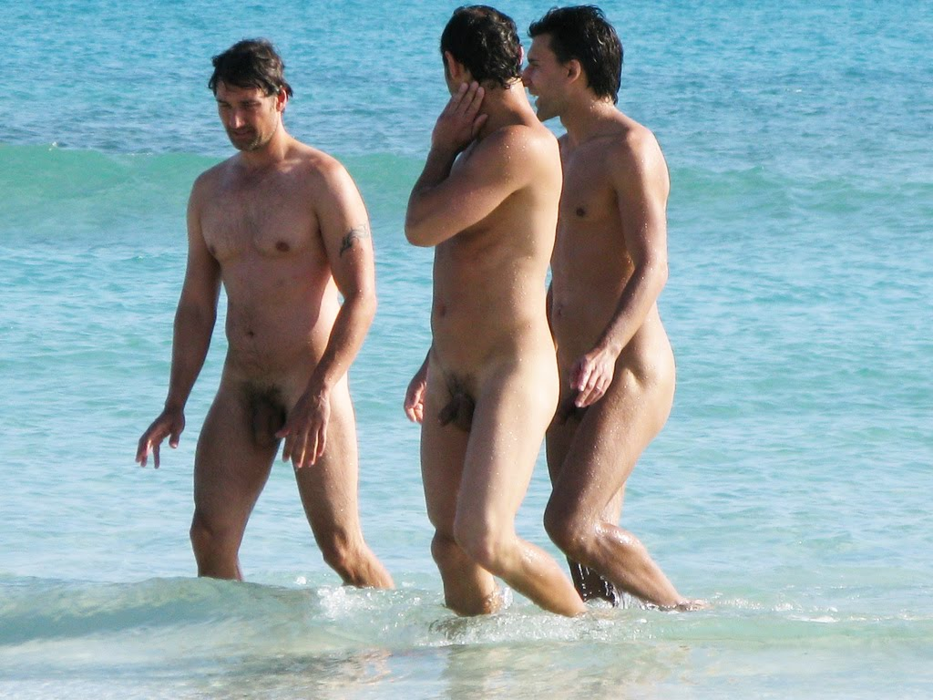 nude male in beach
