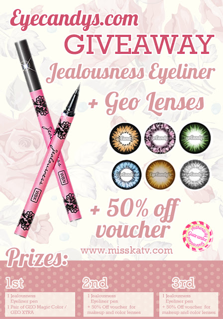 Eyecandys  and Missktv giveaway till el 30.03. International