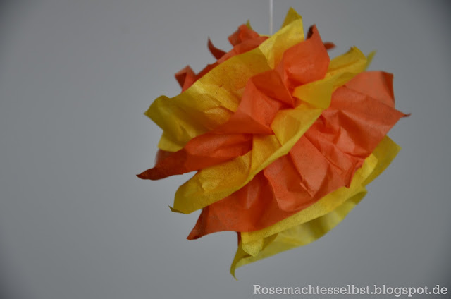 DIY Pom Poms Paper Decoration