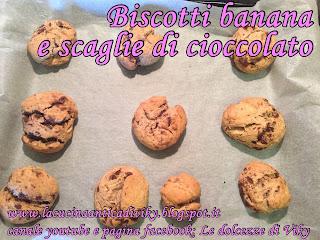 biscotti banana e scaglie di cioccolato