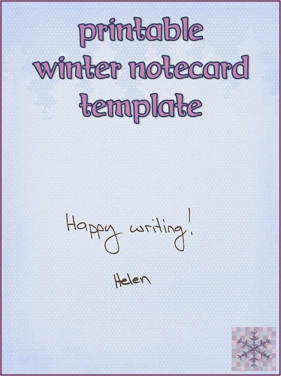 Winter themed notecard (free printable) ~ Life in Random Bits #printable