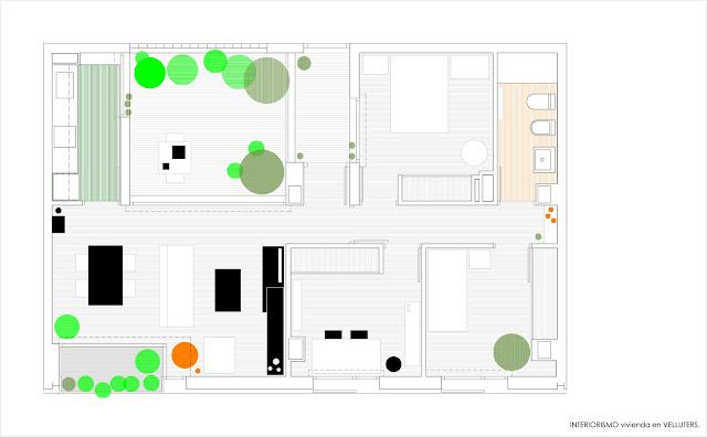 Proyecto interiorismo en Valencia. Planta.