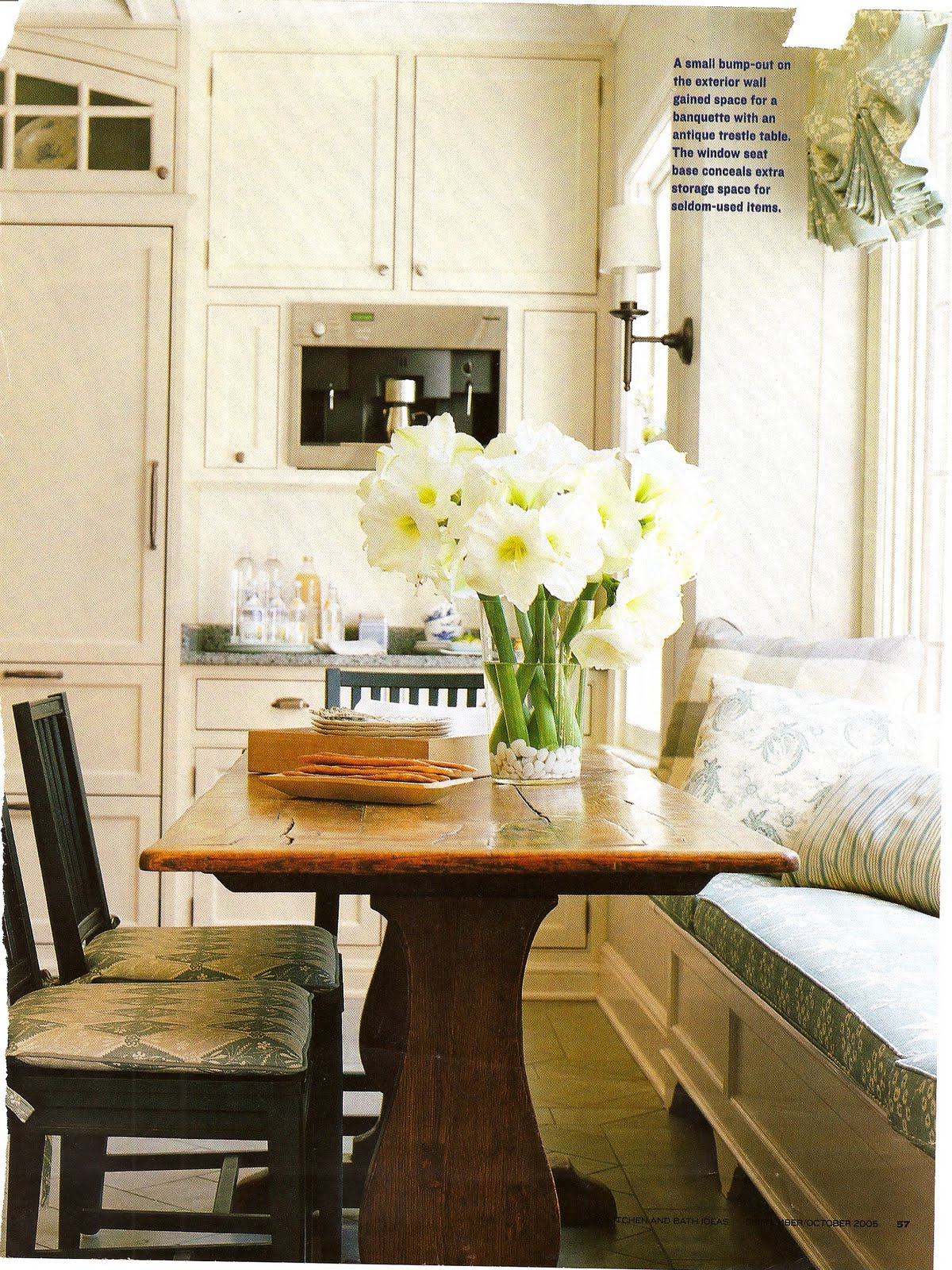 Suzeday tuesday kitchens belclaire house Kitchen breakfast table designs