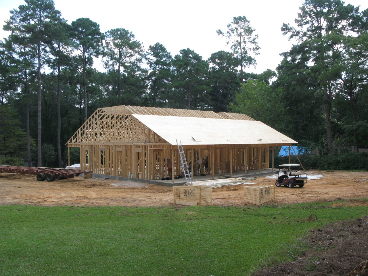 Seminole view by gary shiver construction house day 24 for Shivers fish house