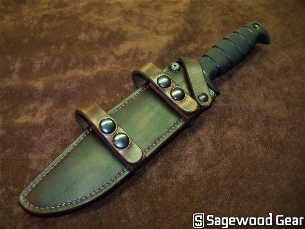 Sagewood gear ontario sp6 fighter scout sheath for Sage wood