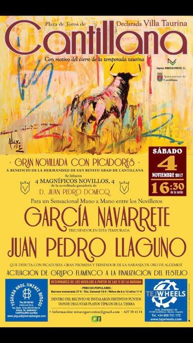CANTILLANA (ESPAÑA) 04-11-2017. GRAN NOVILLADA CON PICADORES.