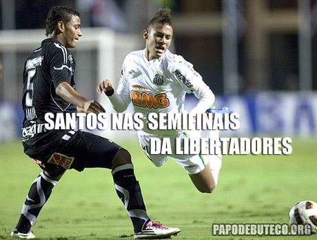 Santos vai as semifinais da Libertadores 2011, Neymar, Santos
