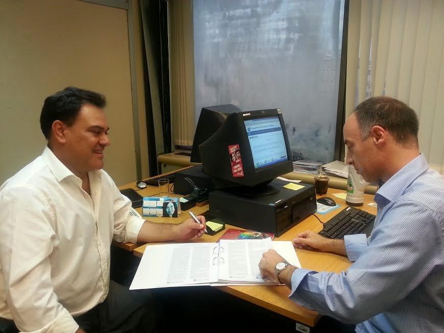 Encuentro de camaradería y trabajo entre Carlos Figueredo y Pablo Caruso.