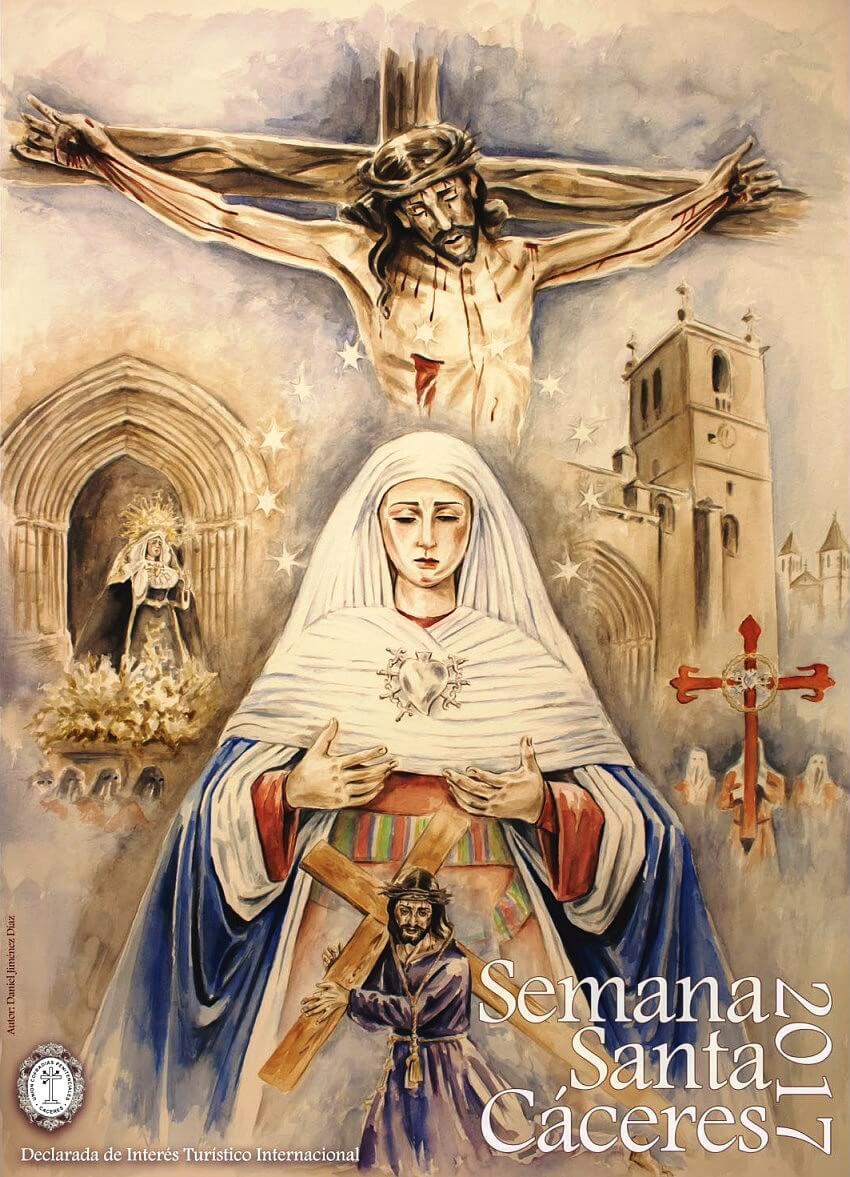 Cartel oficial Semana Santa Cáceres 2017