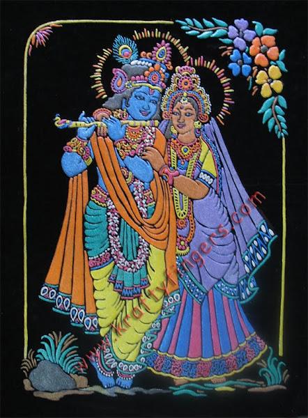 Radha-Krishna-Emboss-Painting