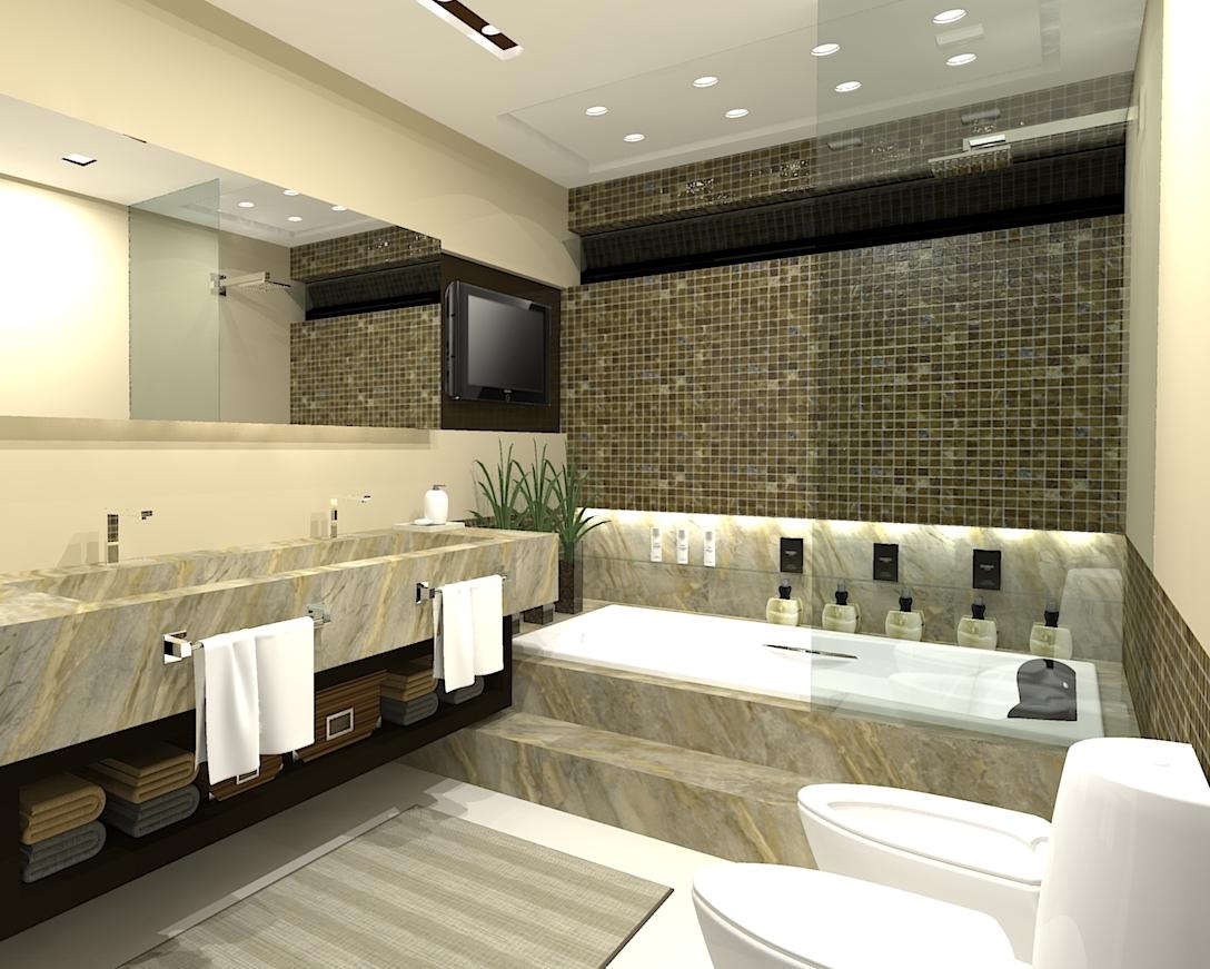 Banheiro Suite C.E.P.M. #927D39 1088x871 Banheiro Casal Suite