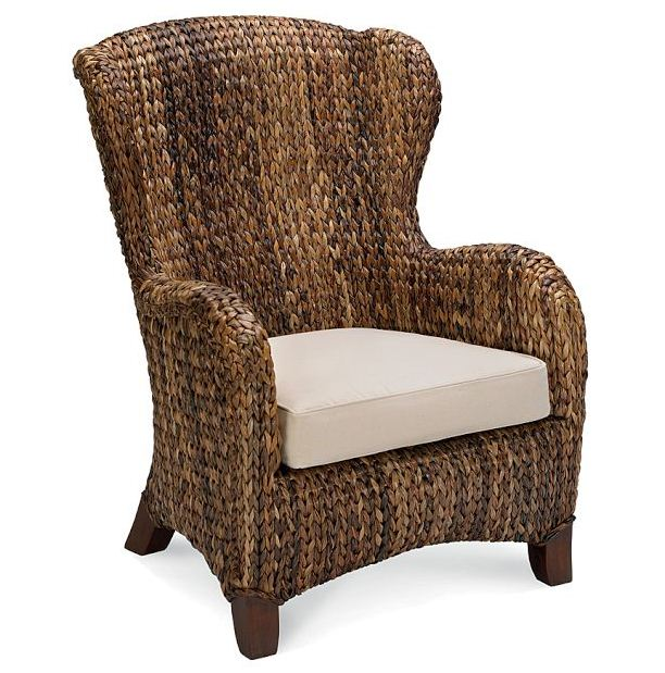 Sea Grass Wingback Chair