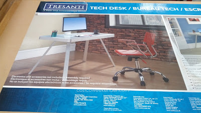 Enhance your home office with the modern looking Tresanti Tech Desk