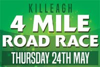 4 mile race in East Cork... Thurs 24th May 2018