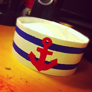 How to make a paper sailor hat with pictures
