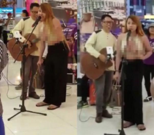 Penjelasan Pondan Tayang Payudara Ketika Menyanyi di Kota Kinabalu