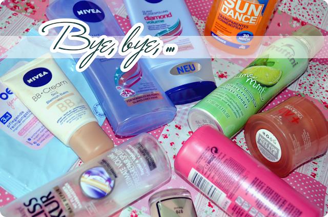 Aufgebraucht im September  2013 - Alle Produkte auf einem Blick