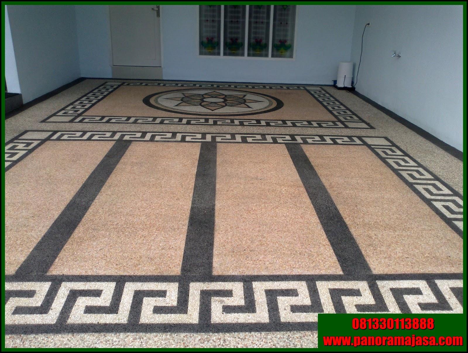 lantai carport bermotif membuat ruang luar ini lebih menarik motif