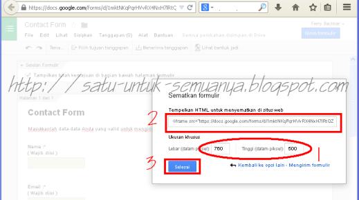 cara menggunakan google formulir untuk membuat contact form-7