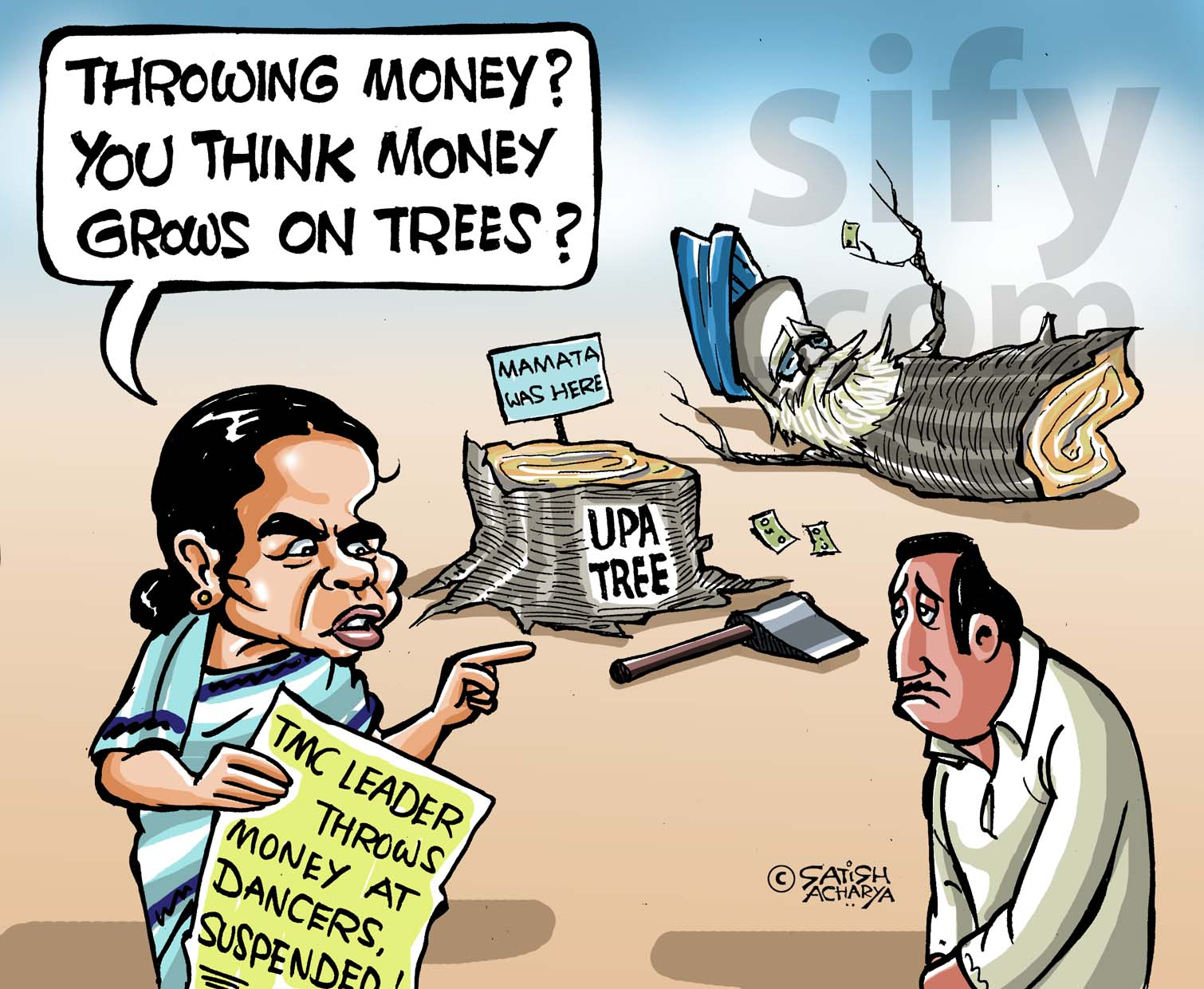 Mamata Realises Money Doesnt Grow On Trees