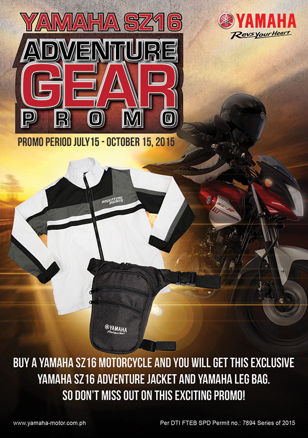 Yamaha SZ16 Adventure Gear Promo