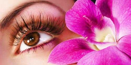 ojos con pestañas largas