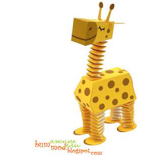 поделка жираф