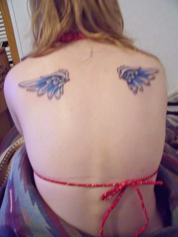 Girls Wings Back Tattoo Designs