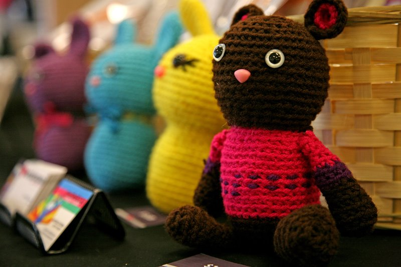 crocheted teddy bear, share your National Craft Month photos, Twitter, Instagram, Sassy Glass Studio
