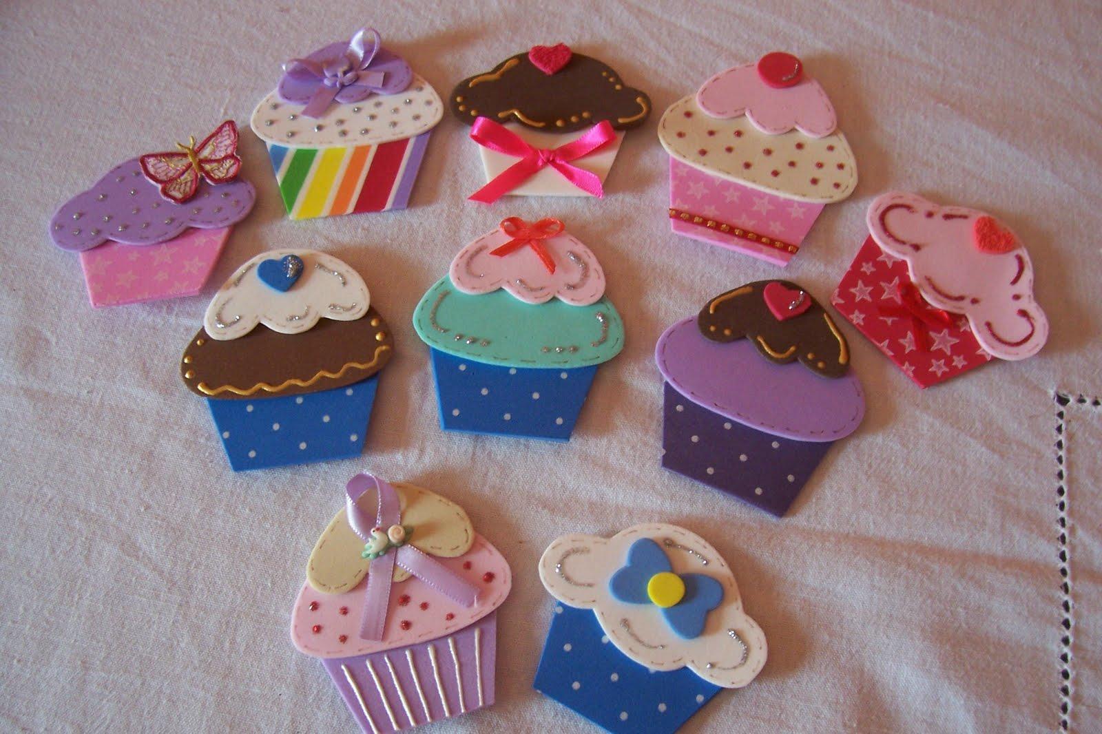 Cupcakes em EVA