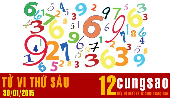 Tử vi Thứ Sáu 30/1/2015 - 11 Thần Số hàng ngày