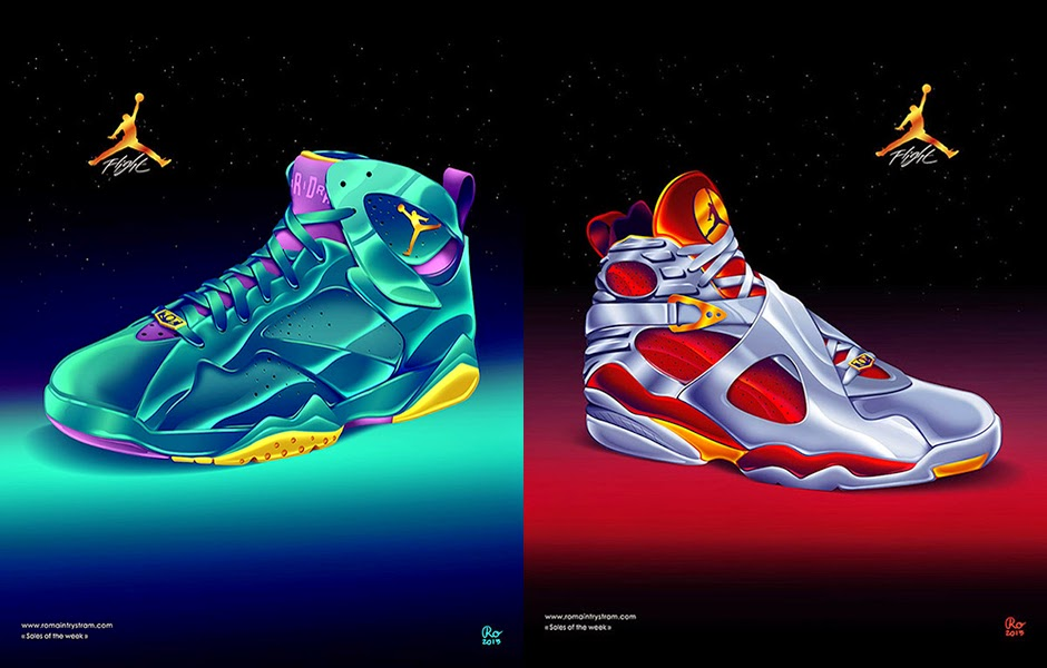 Nike SNKRS Sneaker Art Air Jordan Artwork Inspired By Movie Posters Romain Trystram