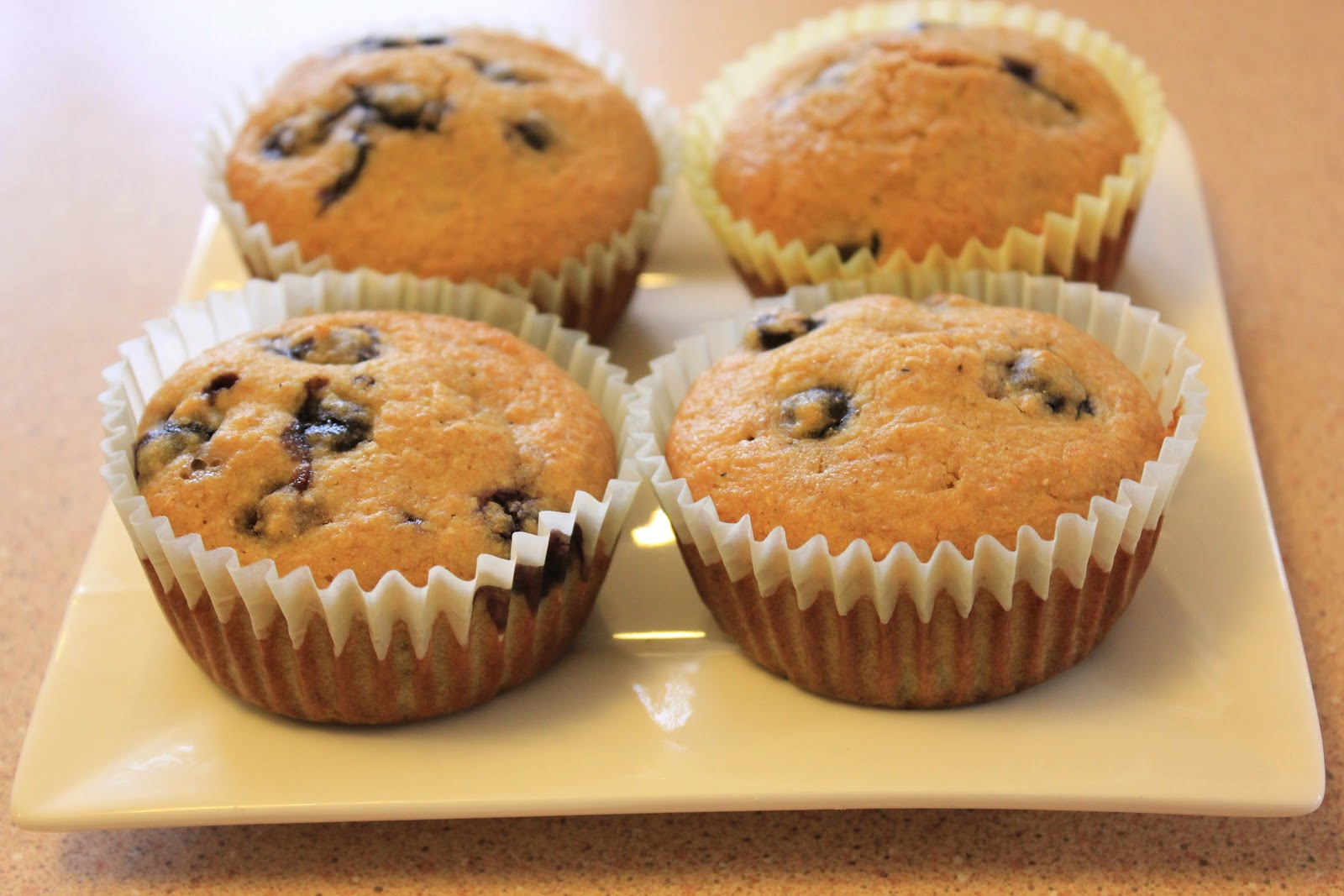 Fit and Lovin' it: Whole Grain Blueberry Corn Muffins