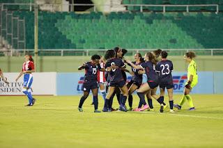 RD y PR empatan en amistoso fútbol femenino