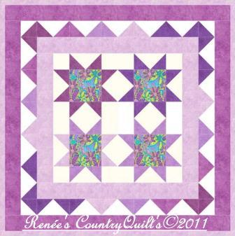 Free Quilt Pattern from Simplicity.com: Star in a Wall Hanging