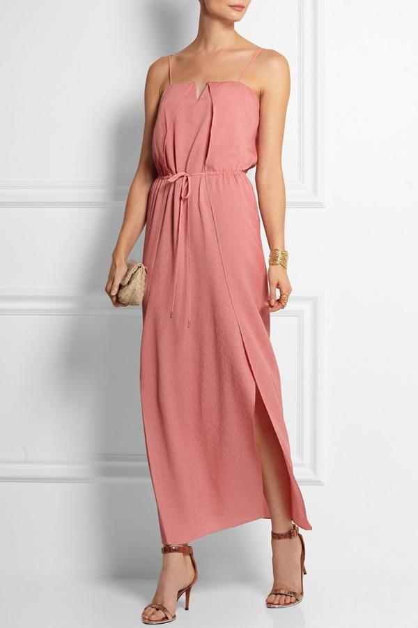 vestido boda rosa