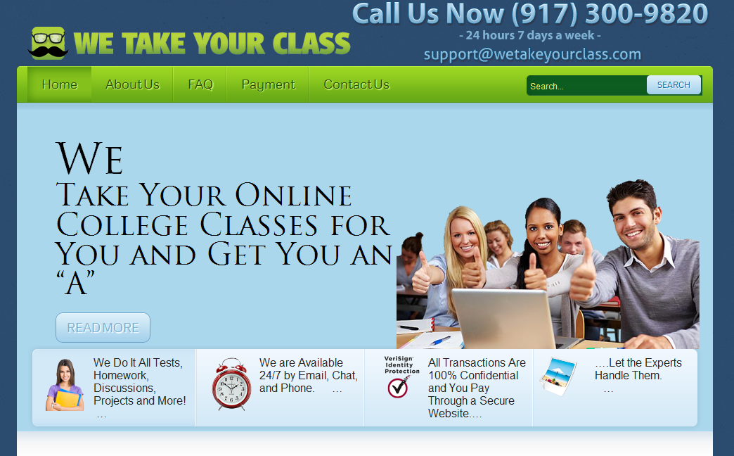 we do your online class