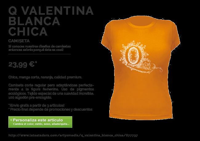 Camiseta Q Valentina Blanca Chica