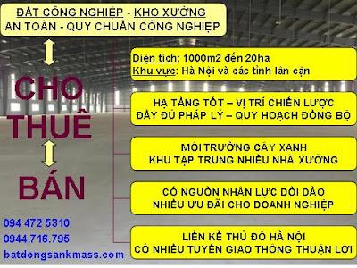 cho thue xuong, ban kho xuong, ban_cho thue dat cong nghiep