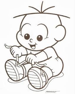 desenho do cebolinha bebe para pintar